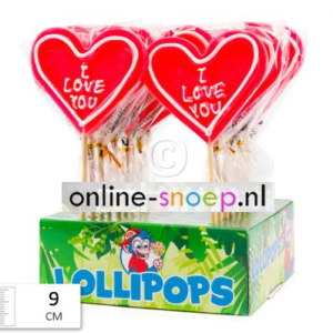 Lolly Heart I Love You 80 gr