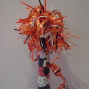 Snoepkoker/drop 25cm oranje