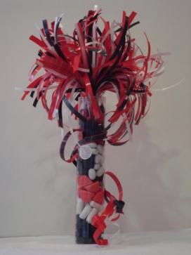 snoepkokers 25 cm rood