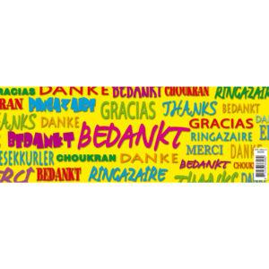 Blik Bedankt ( verschillende talen)