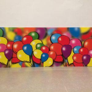Blik met ballonnen
