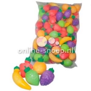 Fruit plastics gevuld met poeder