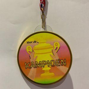 Chocolade medaille Kampioen