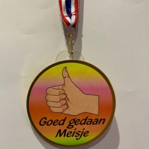 Chocolade medaille Goed gedaan Meisje