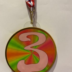 Chocolade medaille Nummer 3